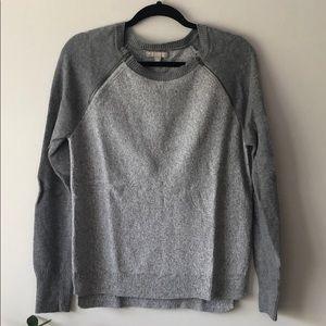 Banana Republic Zipper Detail Merino Wool Sweater